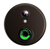 Round Bronze Video Door Bell Alarm